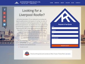 AK Roofing homepage