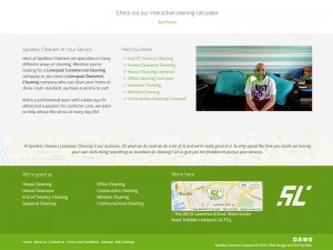Spotless Cleaners Liverpool Footer