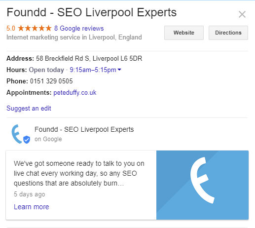 We can show you how to get your business on google